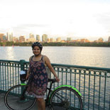 Explore Boston as the sun sets on this family-friendly bike tour