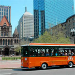 Boston's Old Town Trolley at Trinity Church