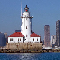 Lake Michigan Chicago Lighthouse