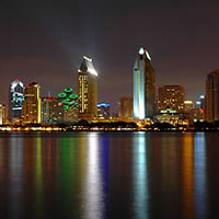San Diego Waterfront at Night