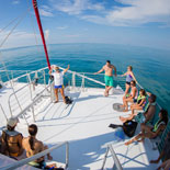 Experience Key West's beautiful clear, tropical waters as you cruise there on a new 65' custom built Snorkel boat