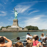 Take a boat cruise for breathtaking views of NYC Skyline from the water!