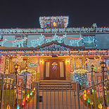 See festively decorated historic homes and city squares